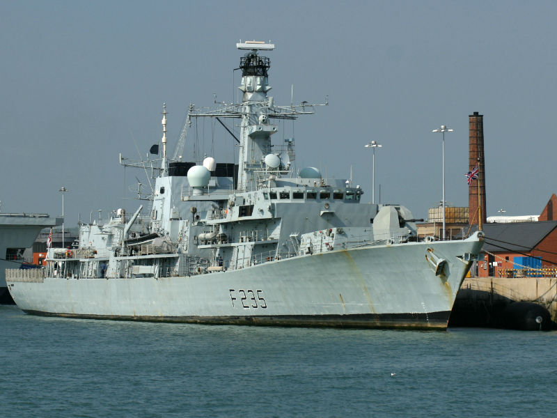 The royal Navy Type 23 Frigate