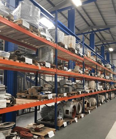 Motors waiting for rewinds and repairs