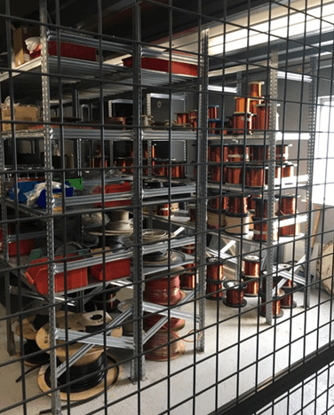 Stock Area for Motor Parts
